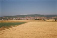 Cesta vlakem podél kosovské hranice
