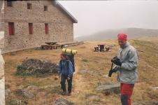 Chata v mlhách na Golemo Ezero
