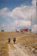 Opuštěná základna na hřebeni Galičice