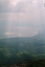 Prespanské jezero z hřebene Čuky